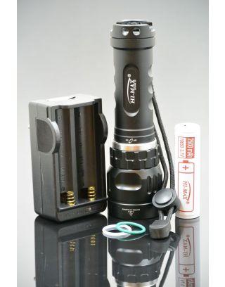 X5 zestaw HI-MAX, 1100lm, latarka nurkowa
